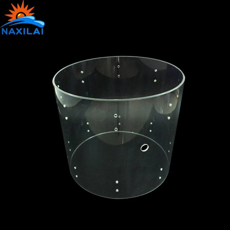 Naxilai Wholesale Factory Colored Acrylic Tube Acrylic Drum Shells Clear Drum Shell Acrylic Tube Pipe