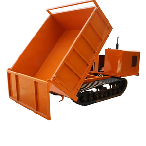Multi-function mini dump truck with track 4 ton loading capacity