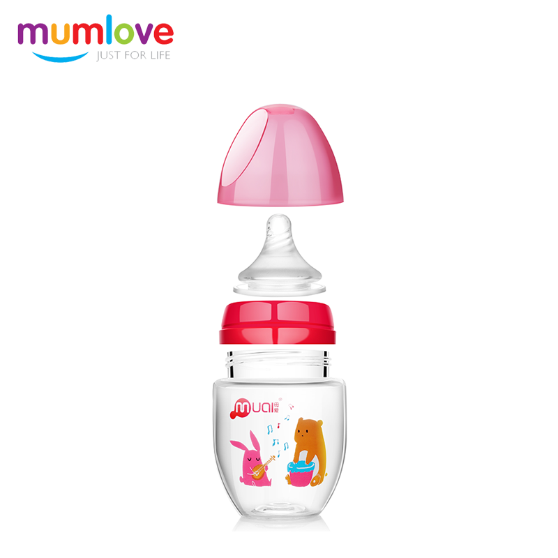 2017 china factory best selling unique bpa free baby feeding bottle