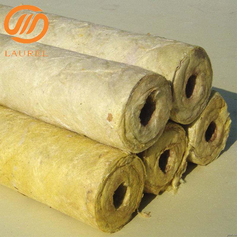 ISO Rock wool pipe for Heat insulation of pipelines in electric power