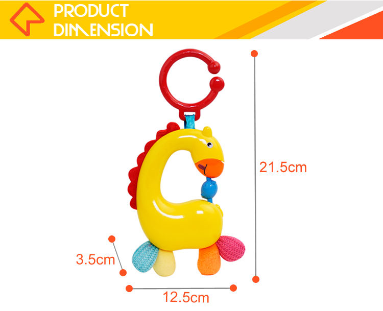 Electronic musical bell noise maker rings set rattle toys for baby