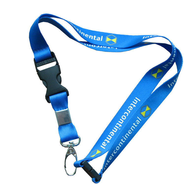 personalized smooth Nylon Lanyard with detachable buckle