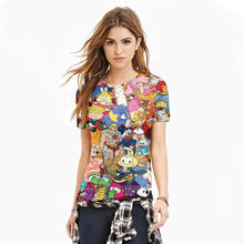Wholesale Cartoon Collection 3D T Shirt Hot Sale Summer Style Pattern Mens T Shirts