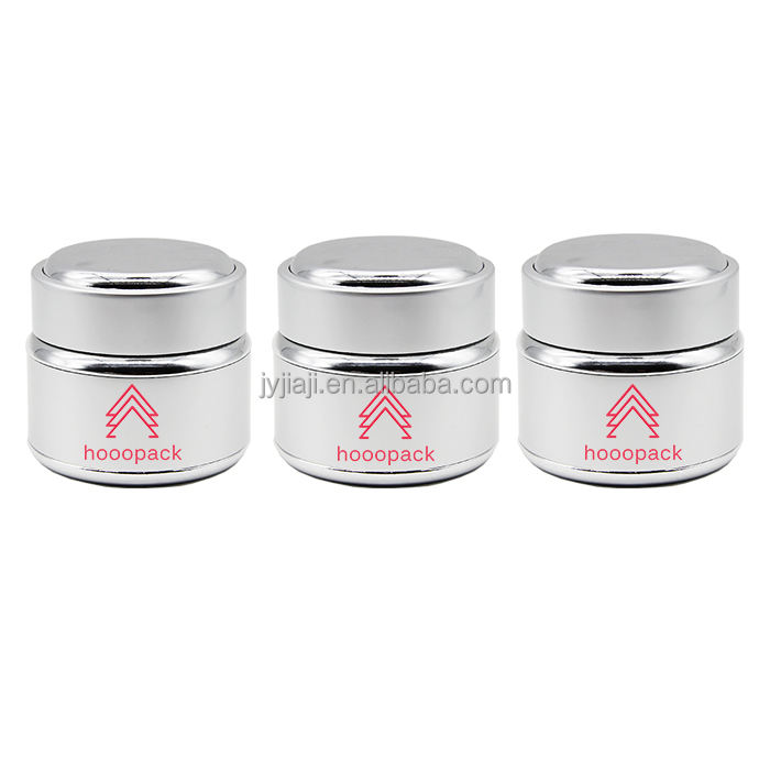 Free sample silver round cosmetic skin care cream fancy aluminum Jar