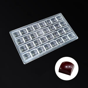 Square Shaped DIY PC Chocolate Molds Clear Hard Plastic Polycarbonate Mould