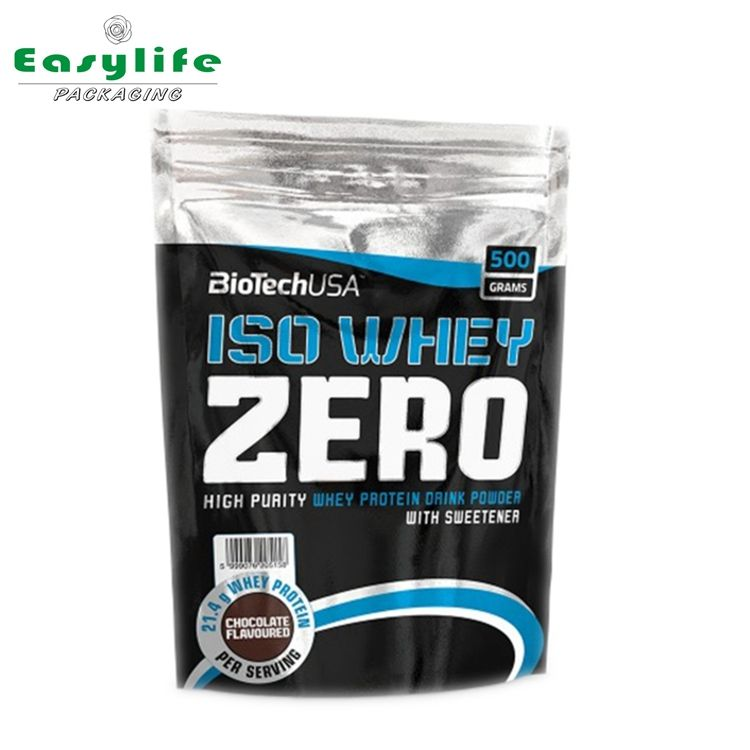 High end 100% impact whey protein isolate packing bags
