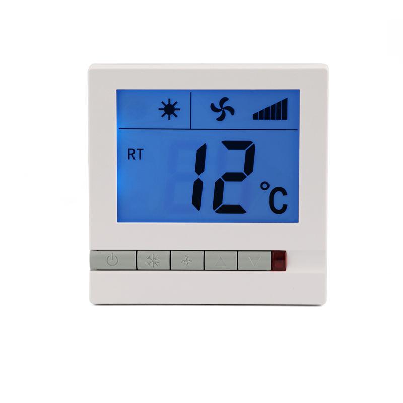 Hogar Habitación Termostato Fan Coil Con Interruptor de Modo de Calor Y Frío
