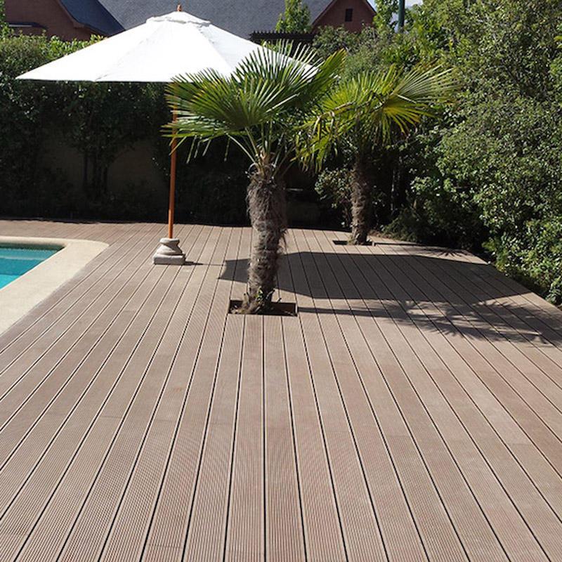 Wood composite outdoor rubber flooring