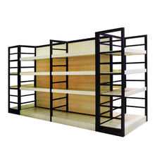 Customized supermarket shelves wood medicine display shelf, display racks for pharmacy