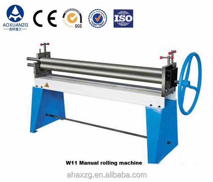 Instock hand operated 3 roller plate bending machine,manual rolling machine