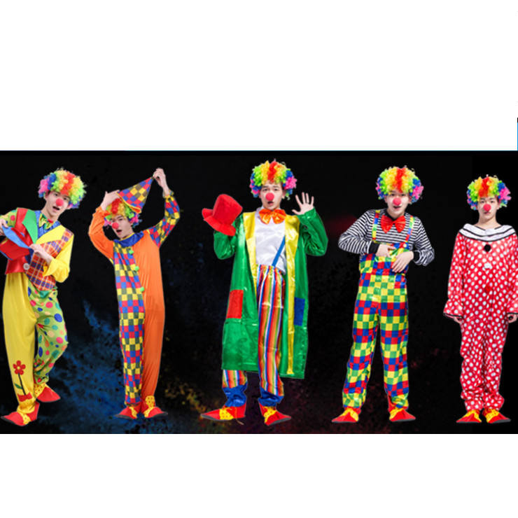 Halloween adulte costume de clown pour costume de cosplay costume de soirée adulte bar décoration De fête De Noël costume de clown