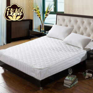 High quality Queen Size Cotton White Hotel linen Mattress Protector with Elastic