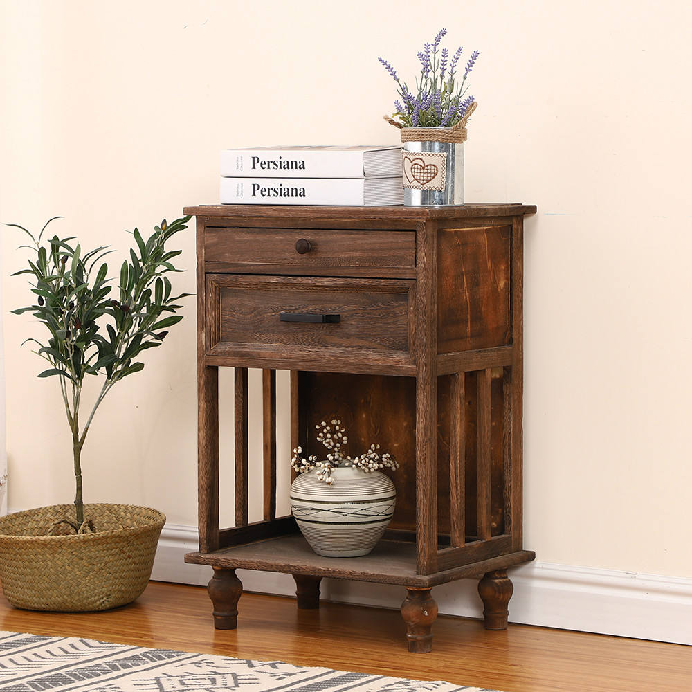 Rural Style Antique brown solid wood cabinet vintage home furniture