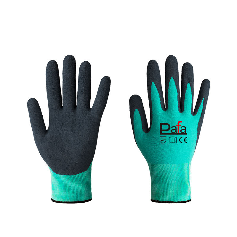 15 gauge colorful nylon spandex latex sandy gloves