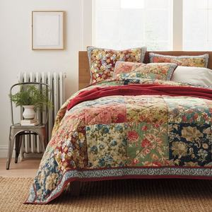 Luxe europese beddengoed set patchwork sprei indian kantha quilts