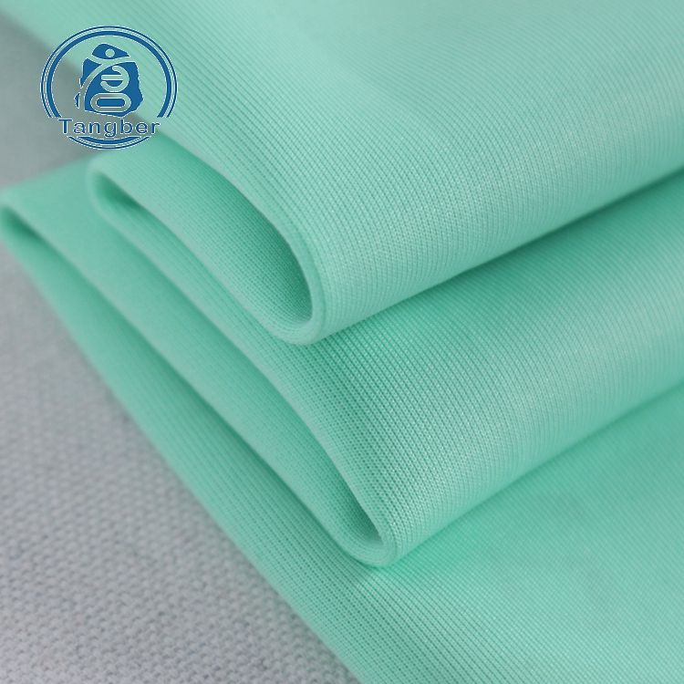Hot Sale knitting polyester spandex plain dyeing scuba textiles fabric for baseball uniform