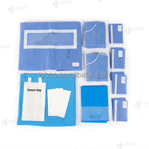 Disposable sterile surgical laparotomy drape pack/Transverse Incision