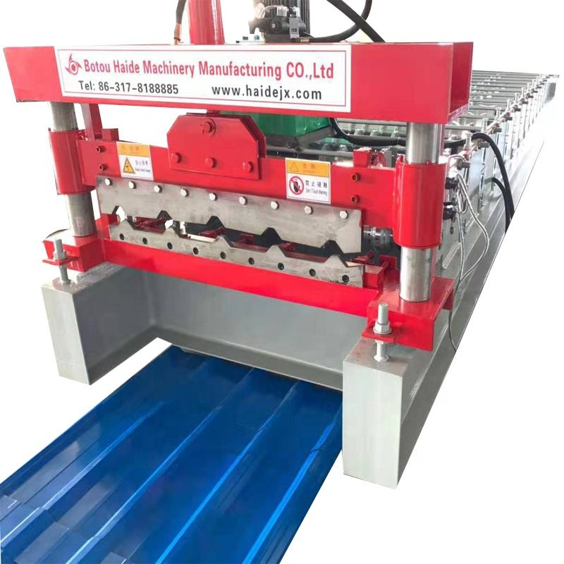 Roof and wall color steel sheet roll forming machine 750 IBR profile price