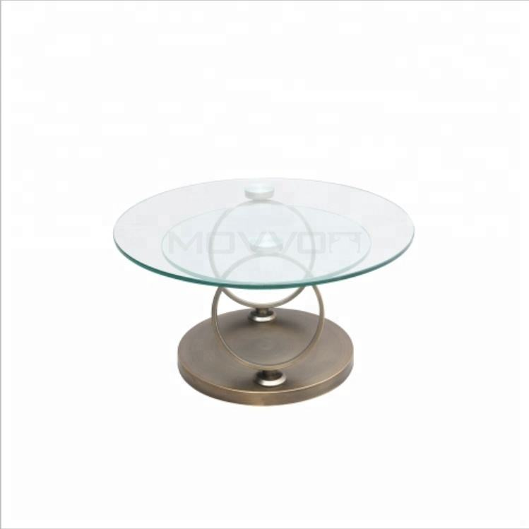 Modern nordic design furniture tempered glass top coffee table for Living Room lounge decoration