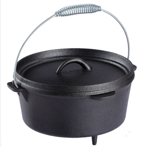 preseasoned cast iron dutch oven cast iron pot cast iron camping cookware