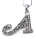Initial Letter A Pendant Necklace Charm Ladies Teens Girls Women Fashion Jewelry Charm