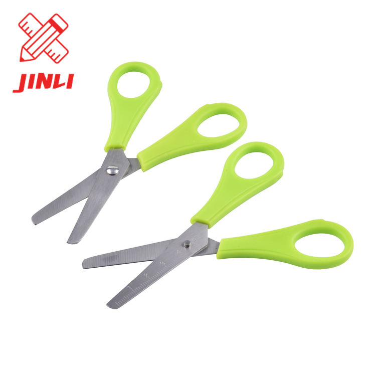 High quality plastic handle stainless steel cutting paper hand tools school children office scissors set