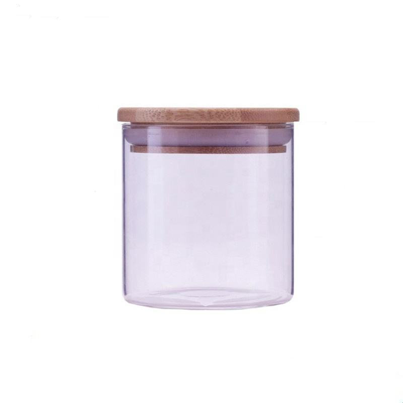 Elegant wholesale home decoration glass candle jar with lid