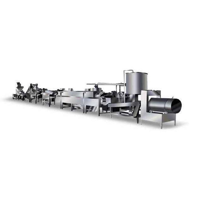 Quick-frozen Production Line of Sweet Potato Chips Automatic Potato Slice Processing Line French fries production line