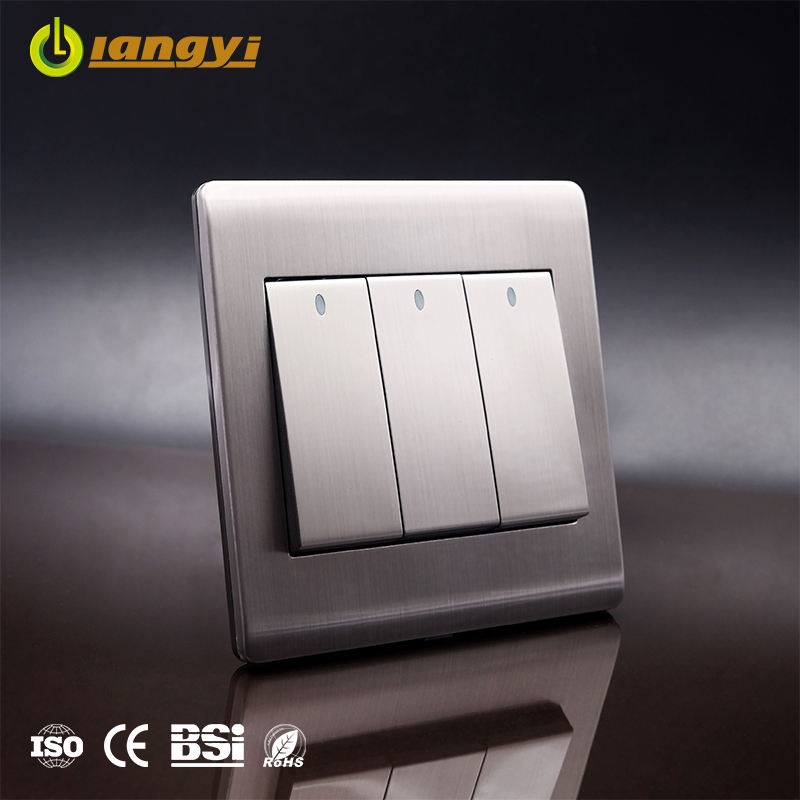 High quality customizable wholesale 3 gang 1 way electronic switch lighting electrical wall switch