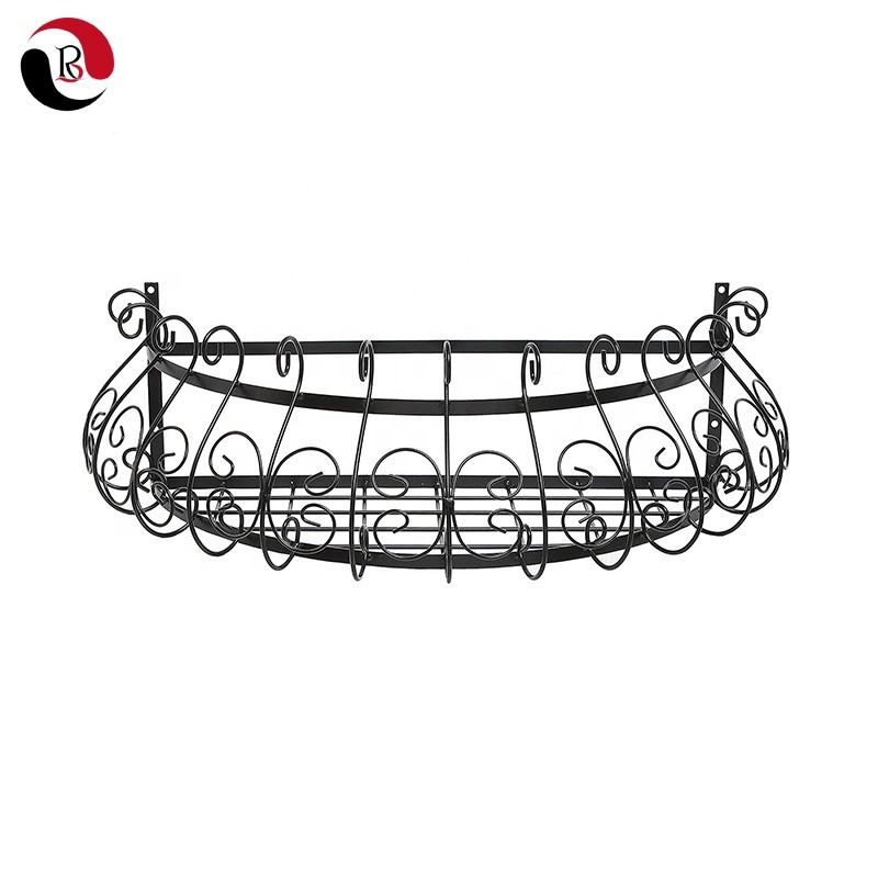 Hot Sales Indoor Decorative Wrought Iron Wall Planter