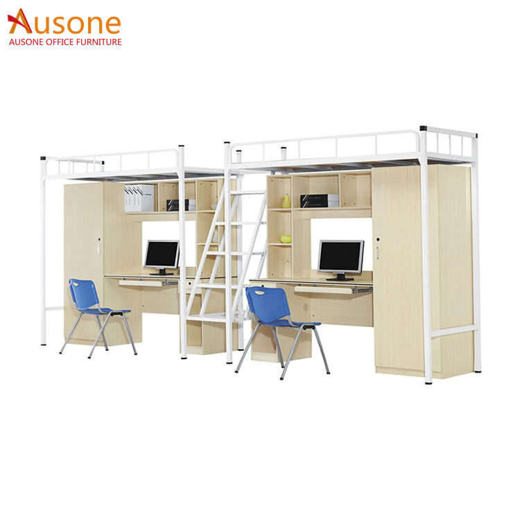 Wholesale High Quality Double Bed Heavy duty Steel adult metal bunk bed