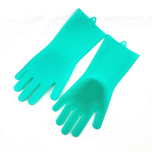 Hot Household Silicone Rubber Dish Washing Gloves Reusable Heat Resistant For Cleaning