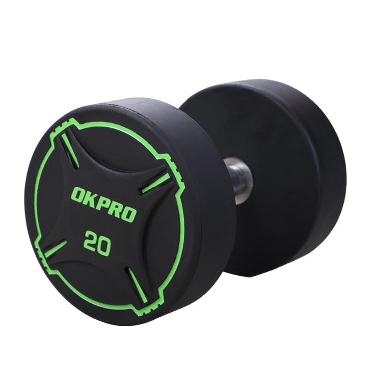 OKPRO Dumbbell Weights Set Gym Fitness Custom PU Round Dumbbell