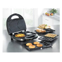 5-in-1 Indoor Griddle Grill Waffle Dount Burger Maker Sandwich Panini Press With Removeable Plates