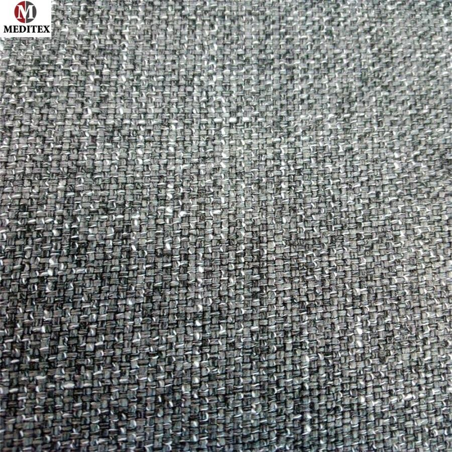 easy clean sofa fabric 100% polyester LINEN Fabric for sofa Upholstery Fabric MDLL079