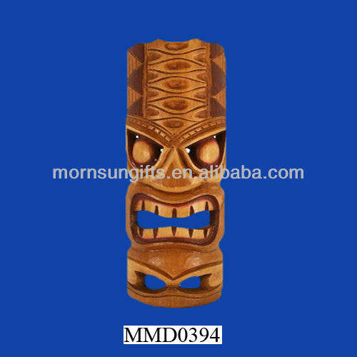 Hawaiian geel tiki keramische party masker