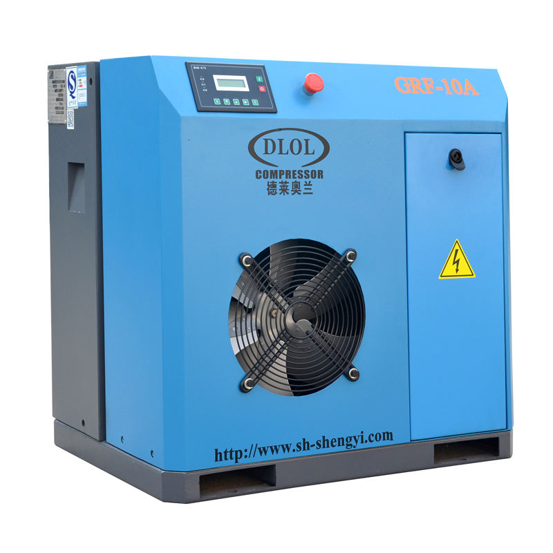 (High) 저 (quality 10HP 자동 belt driving 커 민 침묵 screw air compressor 7.5KW