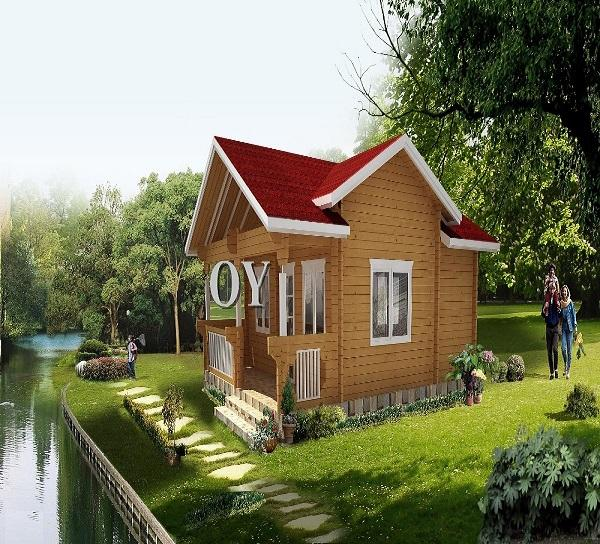 Wooden Prefab House small villa timber SPF Russian Pine Low Cost cheap price good Style
