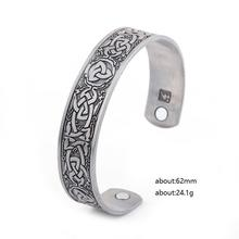 New Design Engraved Healthy Power Cuff Bangle Antique Copper Mens Magnetic Magic Healing Bangle