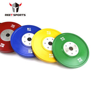 Best quality gym Competition bumper plate Set Colored standard Weight Plates