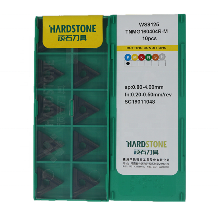 Hot sale original HARDSTONE carbide insert TNMG160404R-M WS8125 turning insert for turning machine