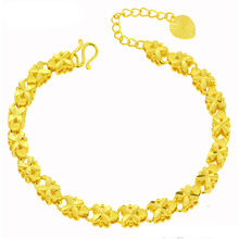 Xuping costume jewelry charm bracelet, gold color 24k gold bracelet, rose copper alloy bracelet women