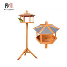 Bird Wooden Feeding Station and Wooden bird House