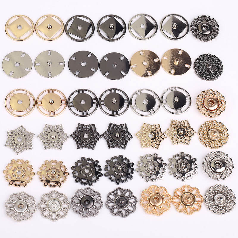 2020 High quality new design fancy metal alloy press sewing snap buttons