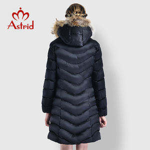 winter clothes long fashion jacket winter women down coat Hooded fur collar women jacket women's clothing manufacturer FR- 6609