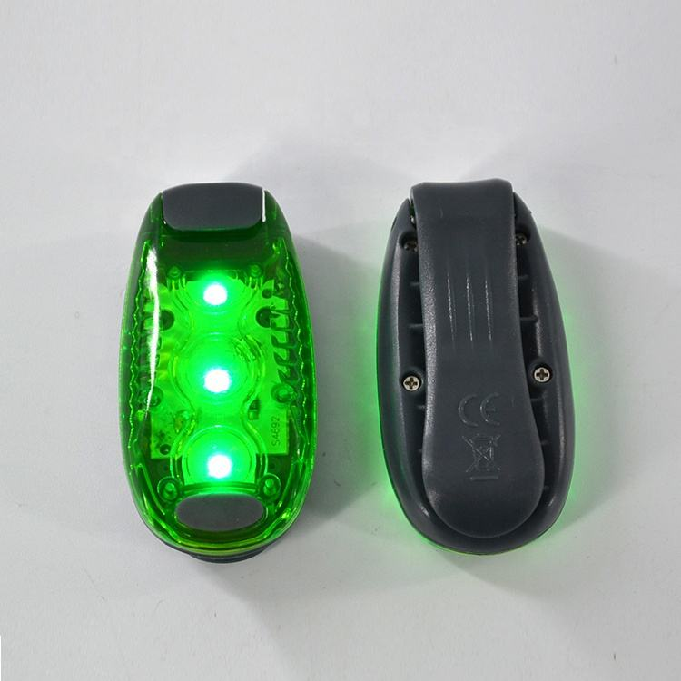 Promotional Mini 3 LED Clip On Running Lights Safety Light For Runners, Dogs, Bikes, Walking