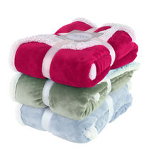 Promotion price customized 100% polyester sherpa flannel fleece warm throw blanket for bed sofa