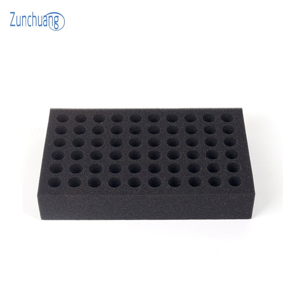 Soft pu packing foam inlay Polyurethane foam insert for glass tube