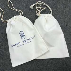 CALICO SOFT POUCH DUST REUSABLE MUSLIN TWILL CLOTH SMALL DRAWSTRING CUSTOM WHITE LOGO COTTON BAG