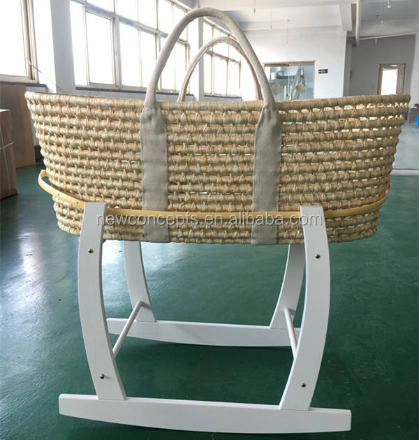 Wholesale high quality baby moses basket with rocking stand